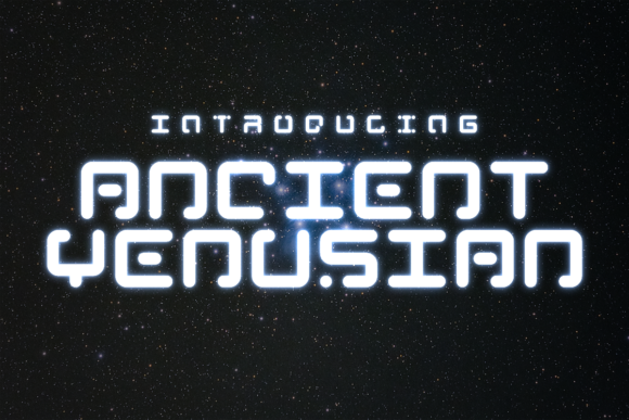 Print on Demand: Ancient Venusian Display Font By Chequered Ink