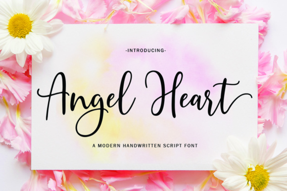 Print on Demand: Angel Heart Script Script & Handwritten Font By Great Studio