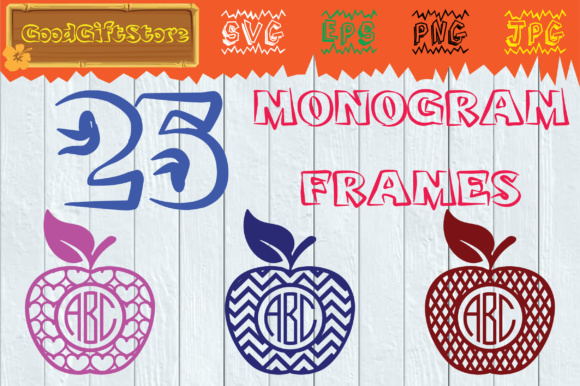 Download Free Apple Monogram Graphic By Piedesigner Creative Fabrica for Cricut Explore, Silhouette and other cutting machines.