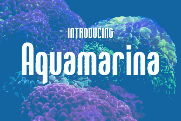 Print on Demand: Aquamarina Display Font By Chequered Ink