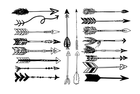 Print on Demand: Arrow Clipart Graphic Illustrations By retrowalldecor