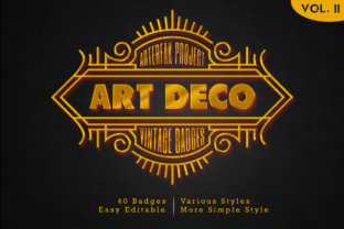 Print on Demand: Art Deco - Vintage Badges Vol. II Graphic Objects By Arterfak Project