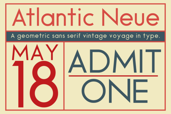 Print on Demand: Atlantic Neue Sans Serif Font By amber_nest