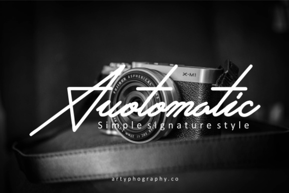 Print on Demand: Auotomatic Script & Handwritten Font By yadhie_setiawan - Image 1