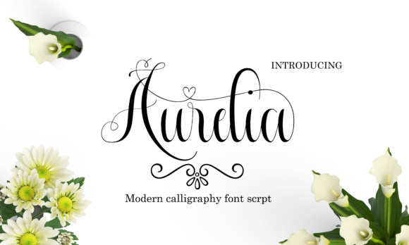 Print on Demand: Aurelia Script & Handwritten Font By Ageless Type