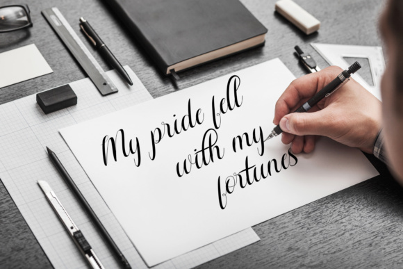 Print on Demand: Aurelia Script & Handwritten Font By Ageless Type - Image 7