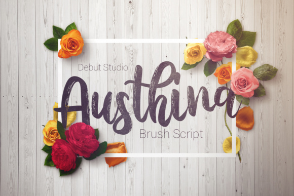 Print on Demand: Austhina Script & Handwritten Font By Debut Studio