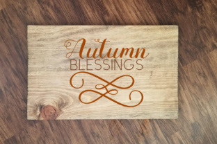 Autumn Blessings -  Fall SVG Graphic By MissSeasonsVinylCuts