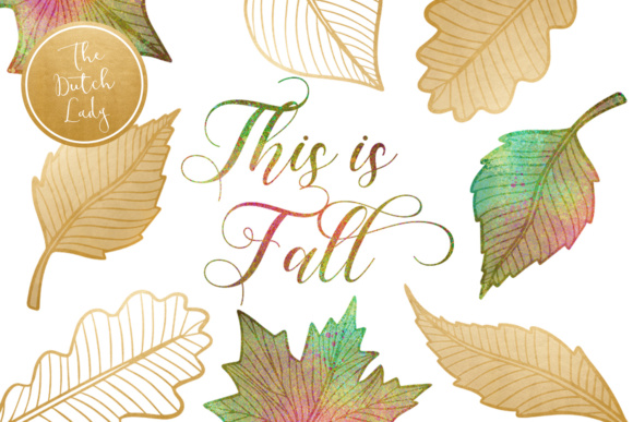 Print on Demand: Autumn & Fall Leaves Clipart Set Graphic Illustrations By daphnepopuliers