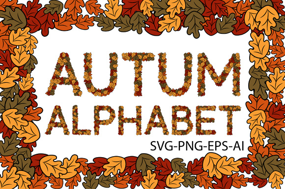 Autumn Letters (a-Z) SVG PNG EPS AI Graphic Crafts By TypEra