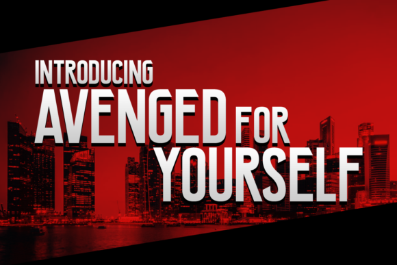 Print on Demand: Avenged for Yourself Display Font By Chequered Ink
