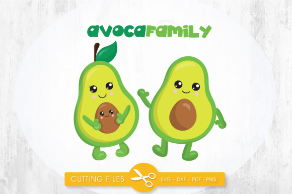 AvocaFamily Graphic By PrettyCuttables