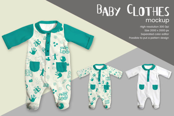 Baby Clothes Mockup Graphic Product Mockups By gumacreative