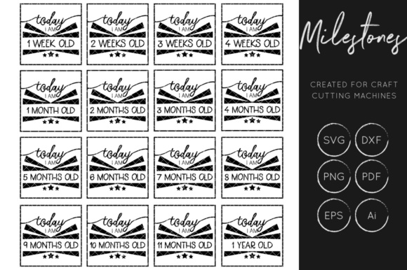Download Free Baby Milestone Baby Milestone Cut File X 16 Graphic By for Cricut Explore, Silhouette and other cutting machines.