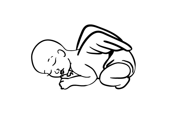 Download Free Baby With Angel Wings Svg Cut File By Creative Fabrica Crafts for Cricut Explore, Silhouette and other cutting machines.