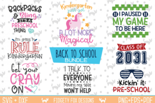 Download Free Back To School Bundle Graphic By Fidgety Fox Designs Creative for Cricut Explore, Silhouette and other cutting machines.