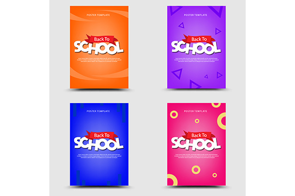 Back to School Poster Templates Graphic by indostudio - Creative Fabrica