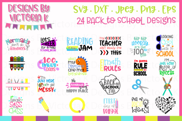 Back to School Bundle Graphic Crafts By Designs By Victoria K