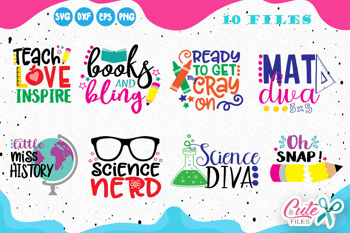 Download Free Back To School Mini Bundle Graphic By Cute Files Creative Fabrica for Cricut Explore, Silhouette and other cutting machines.