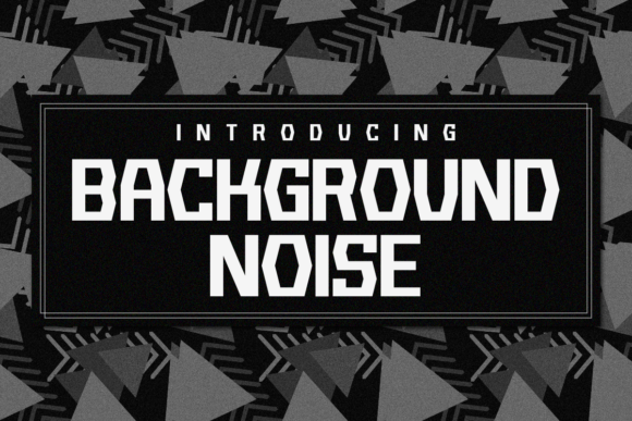 Print on Demand: Background Noise Display Font By Chequered Ink