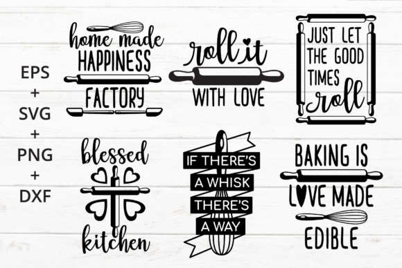 Print on Demand: Baking Kitchen Theme SVG Crafter Graphic Crafts By great19