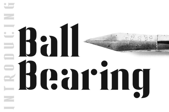 Print on Demand: Ball Bearing Display Font By Chequered Ink