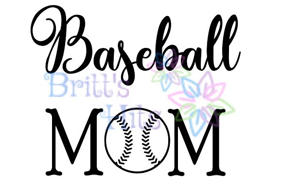 Download Free Baseball Mom Baseball Season Baseball Graphic By Britt S Hits for Cricut Explore, Silhouette and other cutting machines.