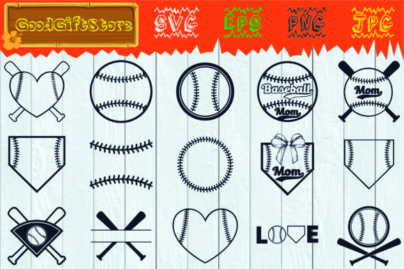 Download Free Baseball Monogram Frames Graphic By Piedesigner Creative Fabrica for Cricut Explore, Silhouette and other cutting machines.