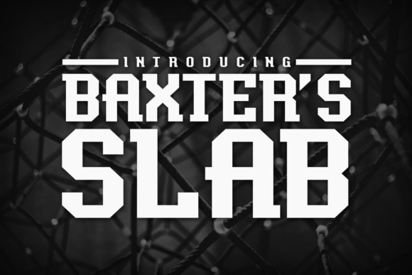 Baxter's Slab Font By Chequered Ink Image 1