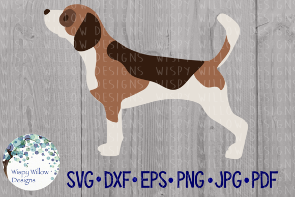 Download Free Beagle Dog Pet Cut File Graphic By Wispywillowdesigns for Cricut Explore, Silhouette and other cutting machines.