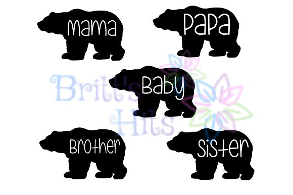 Download Free Bear Family Family Papa Bear Mama Bear Baby Bear Graphic By for Cricut Explore, Silhouette and other cutting machines.