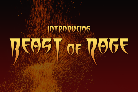 Print on Demand: Beast of Rage Display Font By Chequered Ink