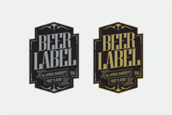 Beer Label Graphic Print Templates By KitCreativeStudio