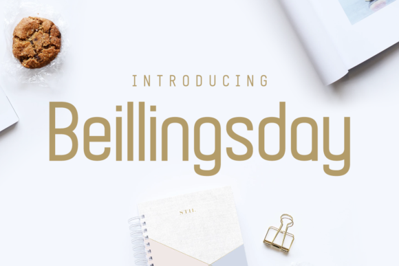 Print on Demand: Beillingsday Display Font By Chequered Ink