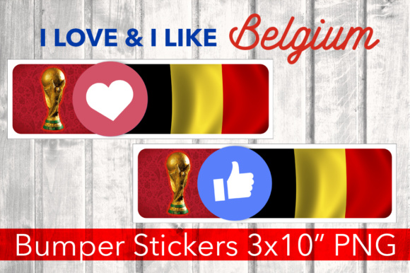 Print on Demand: Belgium Bumper Stickers PNG Graphic Illustrations By davidrockdesign