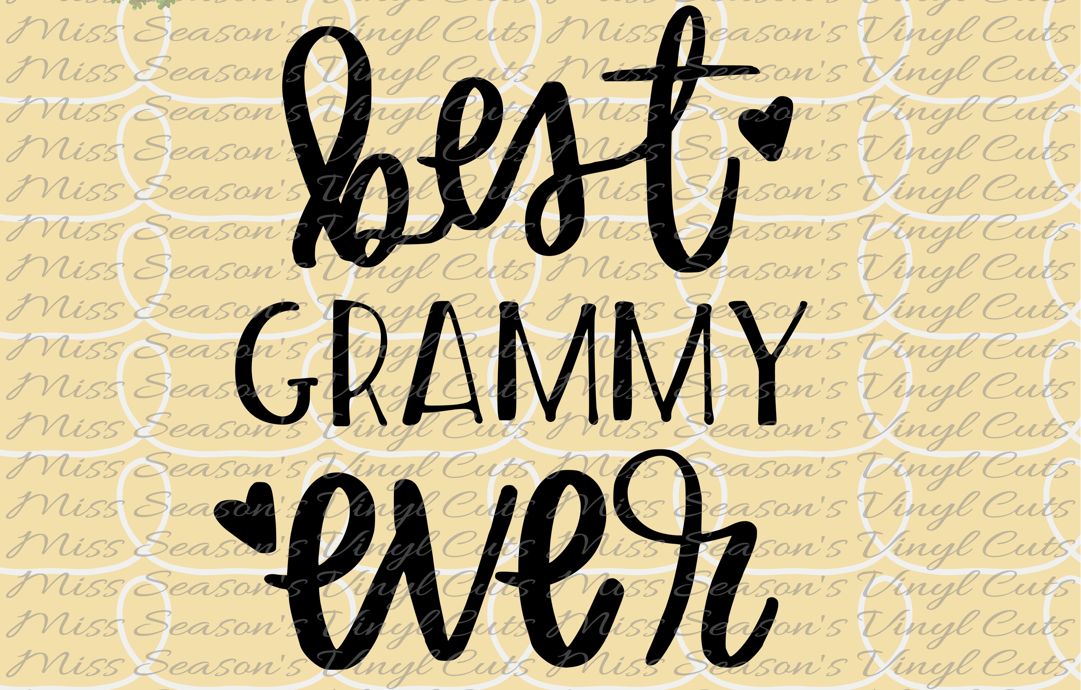 Download Free Best Grammy Ever Hand Lettered Graphic By Missseasonsvinylcuts for Cricut Explore, Silhouette and other cutting machines.