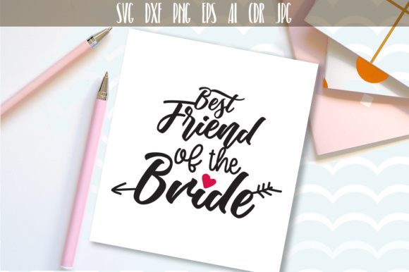 Best Friend of the Bride Cut File Graphic Crafts By Vector City Skyline