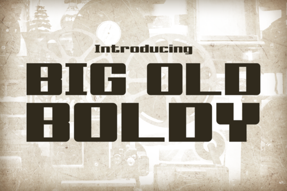 Print on Demand: Big Old Boldy Display Font By Chequered Ink
