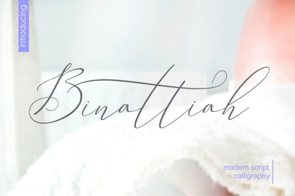 Print on Demand: Binattiah Script & Handwritten Font By Sulthan Studio