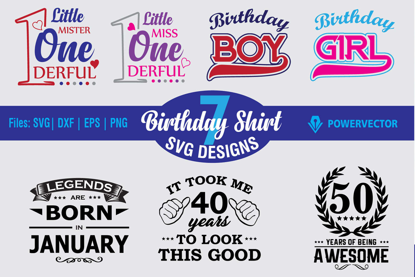 Download Free Birthday Design Bundle Grafico Por Powervector Creative Fabrica for Cricut Explore, Silhouette and other cutting machines.