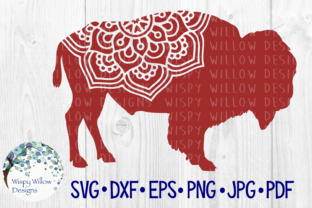 Download Free Bison Yak Buffalo Animal Mandala Cut File Graphic By for Cricut Explore, Silhouette and other cutting machines.