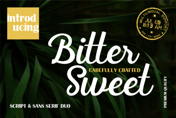 Print on Demand: Bittersweet Duo Display Font By Spasova