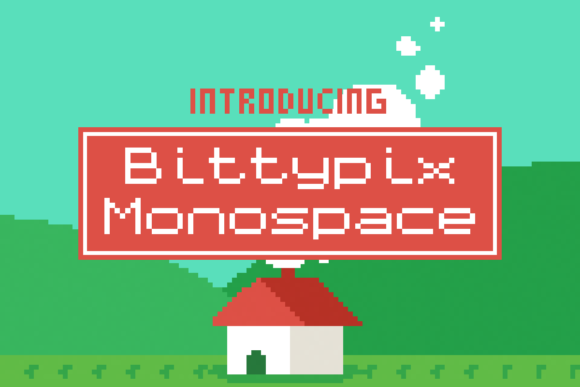 Bittypix Monospace Display Font By Chequered Ink