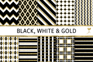 Black, White and Gold Graphic By JulieCampbellDesigns