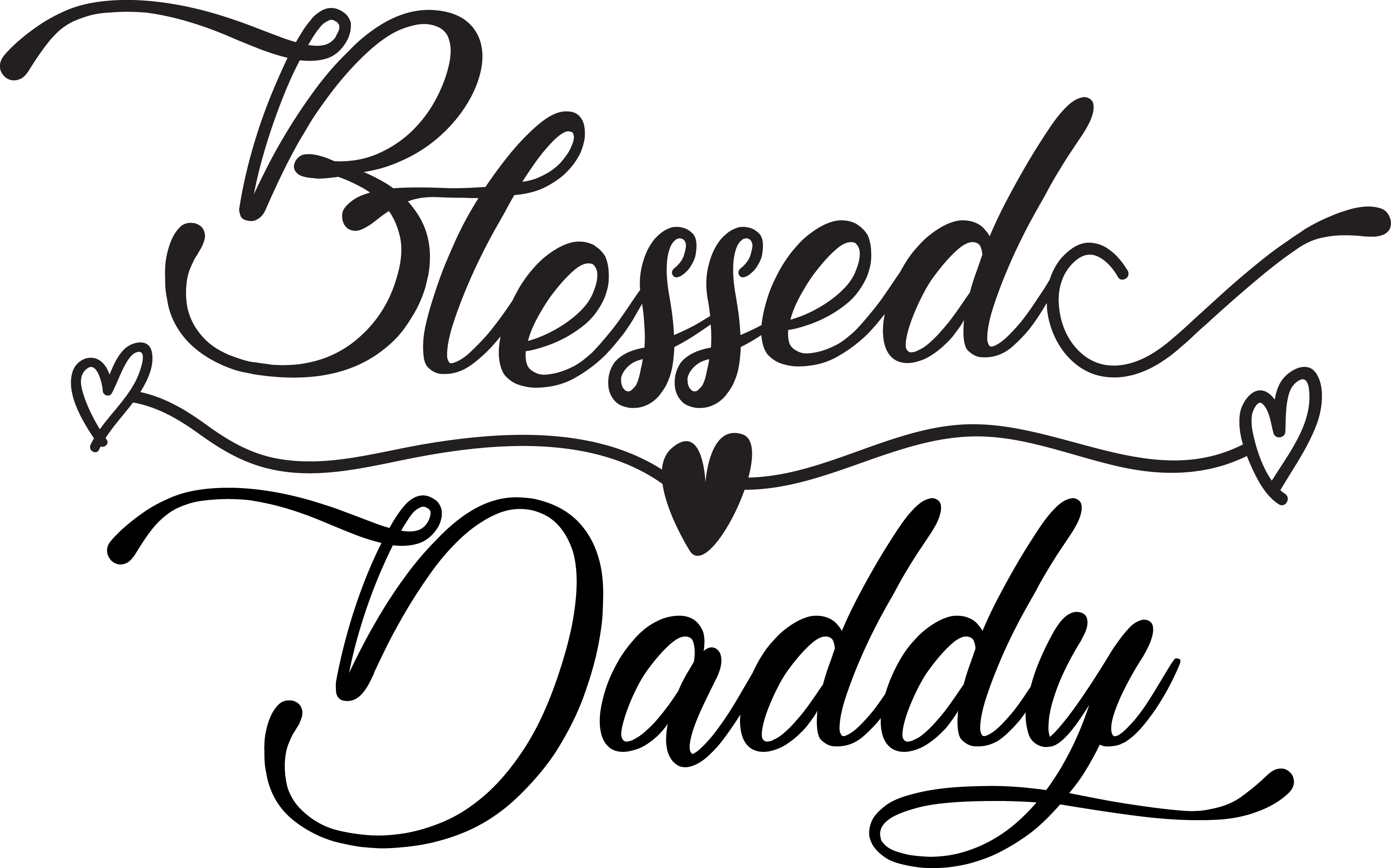 Download Free Blessed Daddy Grafik Von Tanyachicsvg Creative Fabrica for Cricut Explore, Silhouette and other cutting machines.