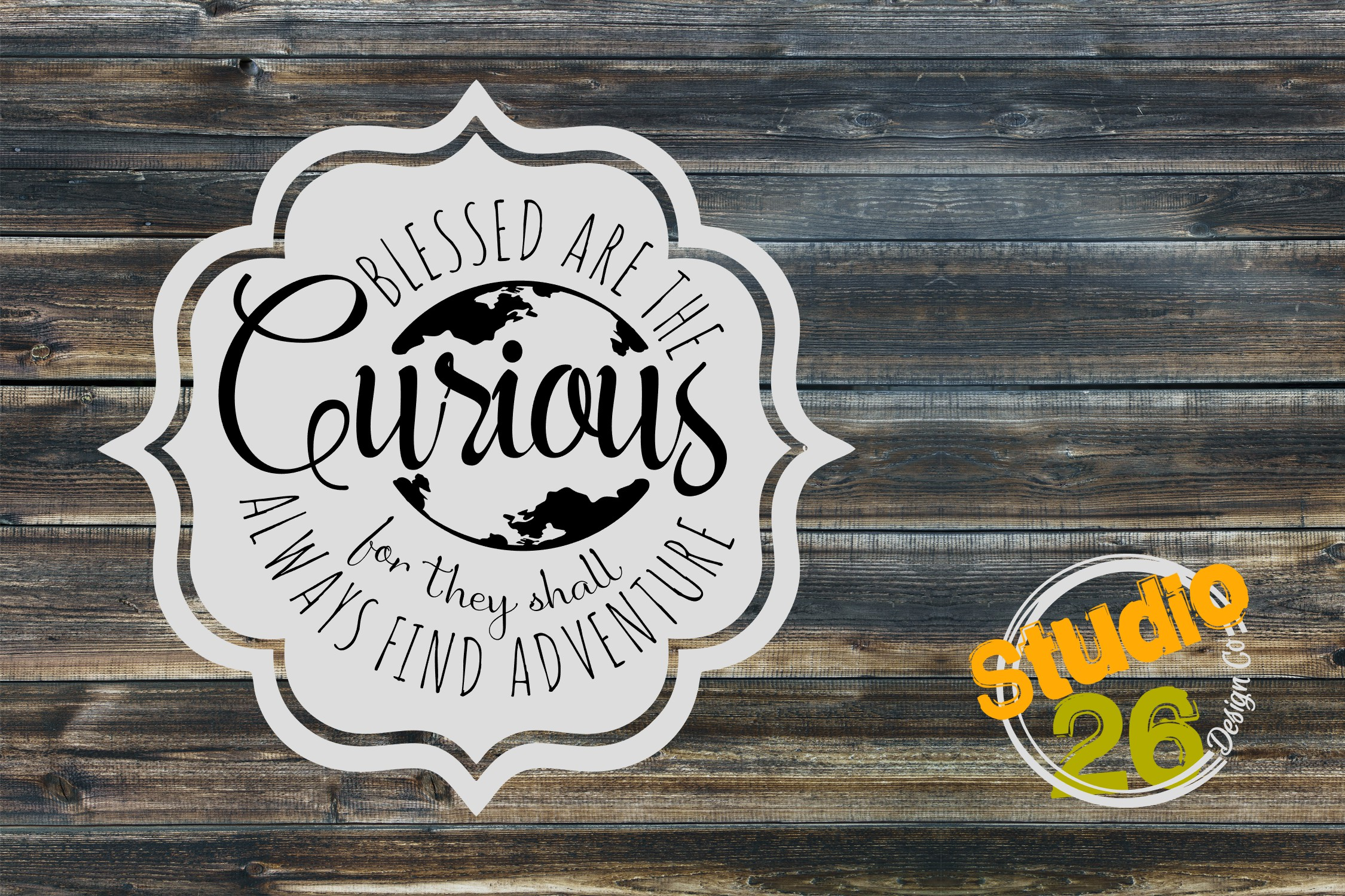 Download Free Blessed Are The Curious Graphic By Studio 26 Design Co for Cricut Explore, Silhouette and other cutting machines.