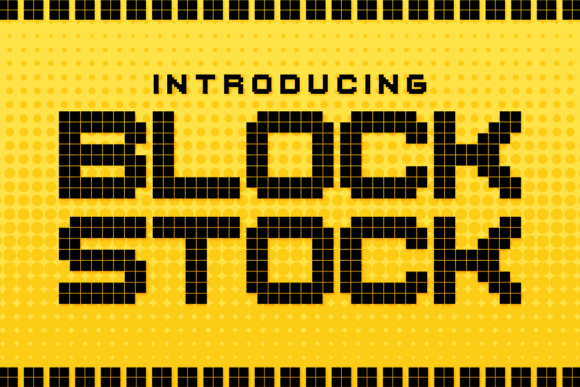 Print on Demand: Block Stock Display Font By Chequered Ink