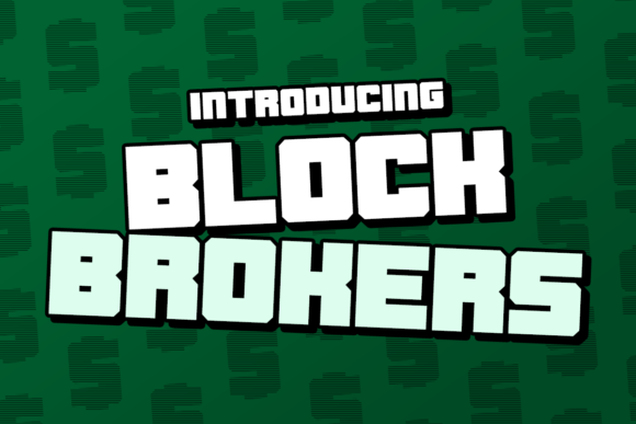 Blockbroker Display Font By Chequered Ink