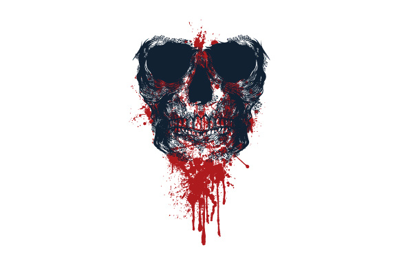 Download Free Bloody Skull Illustration Grafico Por Syndicate Std Creative for Cricut Explore, Silhouette and other cutting machines.