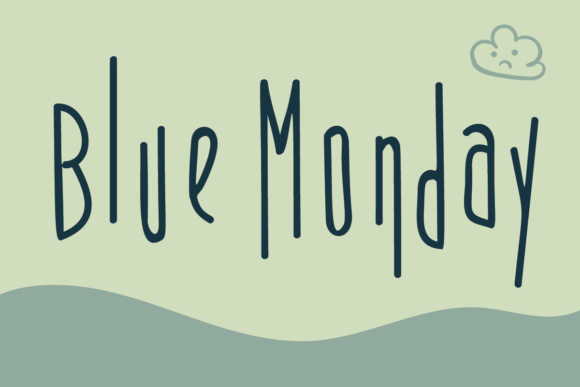 Print on Demand: Blue Monday Display Font By Lickable Pixels